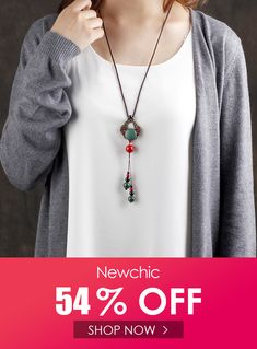 Ethnic Hollow Agate Turquoise Necklace Jade Casual Shirts Sweater Long Necklace for Women Kawaii Halloween, Necklace Sizes, Height And Weight, Long Sweaters, Sweater Shirt, Fashion Necklace, Casual Shirts, Turquoise Necklace, Ethnic