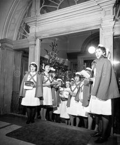 Nurses singing Carols, Christmas 1967 Edinburgh Sick Children's Hosp