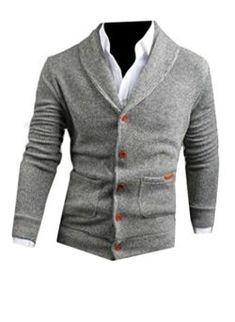 YUNY Mens Soft Classic-Fit Fitness Fall Knitwear Contrast Sweater Top White L