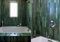 These Heath Ceramics tiles remind us of sea glass, as well, thanks to the variation in the patterns.