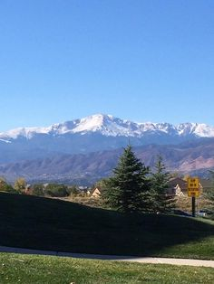 Pike's Peak view from Northeastern part of Colorado Springs ,Colorado