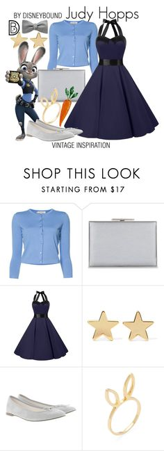 """""""Judy Hopps"""" by leslieakay ❤ liked on Polyvore featuring Carolina Herrera, Aspinal of London, Jennifer Meyer Jewelry, Repetto, Jacquie Aiche, vintage, disney, disneybound and disneycharacter"""