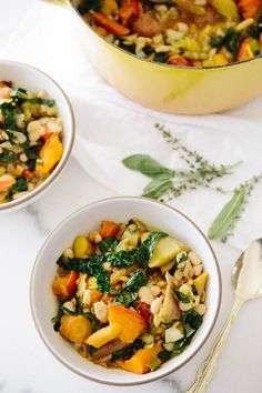 Roasted Fall Vegetable Stew: snuggle up with a cozy blanket, a good book, and a hefty bowl of this goodness (gf, vegan).