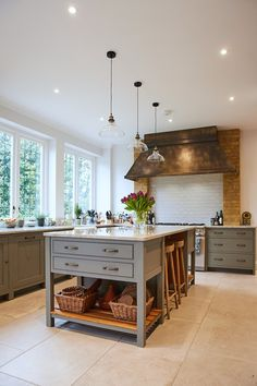 Kitchen Updating Ideas With its muted tones, rustic feel and contemporary touches, discover our latest kitchen on our website. Rustic Kitchen Design, Home Decor Kitchen, Interior Design Kitchen, Country Kitchen, Home Design, Home Kitchens, Design Ideas, Interior Paint, Kitchen Ideas