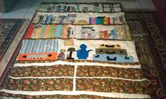 the book quilt is ready to be quilted - save one tiny detail Book Quilt, Book Making, The Book, Cold, Warm, Quilts, Detail, Blanket, Books