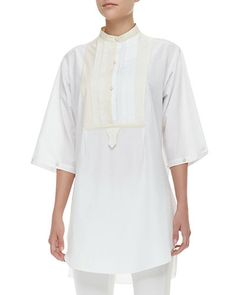 Alexander McQueen Two-Tone Tiered Utility Blouse New offer @@@ Price :$2685 Price Sale $939.75