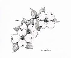 I want to get a tattoo of dogwood flowers...