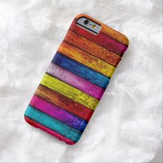 Cute iPhone 6 Case! This Colorful Abstract Wood Pattern iPhone 6 Case can be personalized or purchased as is to protect your iPhone 6 in Style!