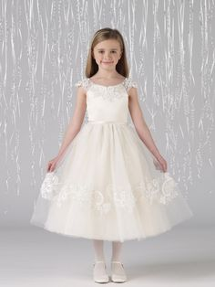 first communion dress Joan Calabrese-212370 Satin and Tulle