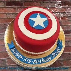 Captain America shield cake | - Springboro, Ohio - Tiffany's Creative Cakes