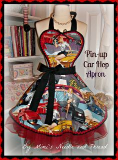 PinUp Car Hop handmade apron by mimisneedle on Etsy