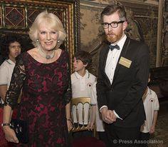 "1/21/2014: Camilla, Duchess of Cornwall & Gareth Malone attend the ""I CAN"" 125th anniversary reception (London)"