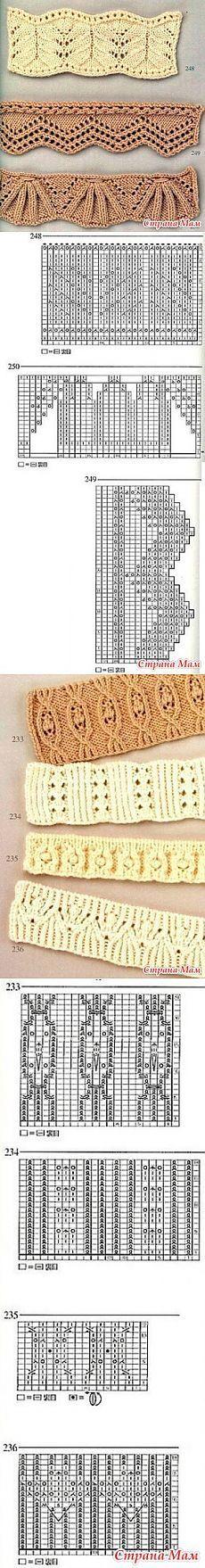 Ажурные резинки спицами - Вязание - Страна Мам
