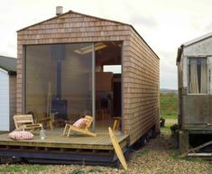 To know more about tiny house design beach chalet - exterior, visit Sumally, a social network that gathers together all the wanted things in the world! Featuring over 1 other tiny house design items too! Small Beach Cottages, Small Cottages, Casa Hotel, Waterfront Cottage, Waterfront Property, Sweet Home, Cottage Design, Cottage Decorating, Decorating Ideas