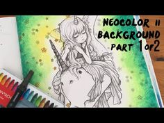 Hi there, This is Part 2 of 2 of a background idea using Neocolor II. Thanks for liking, commenting and subscribing ❤️😍 StephXxX Here's Part 1 just in case h. Manga Coloring Book, Mermaid Coloring Book, Adult Coloring Book Pages, Coloring Books, Anime Couples Manga, Cute Anime Couples, Anime Girls, Manga Mermaid, Book Background