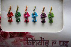 Small Gold Bead Bindi jewel Forehead Indian makeup.