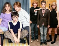 Photos before and after harry potter cast