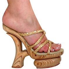 8 inch Wood Slip On Mule | Shoes: Wood Platform | Pinterest | Slip ...