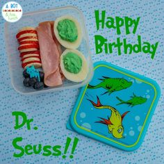 A Boy & His Lunch: Just a Little Seuss-y Bento