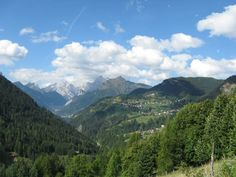 Panoramica di Selva di Cadore in Estate