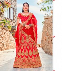 a1cbfaf10f6 Buy Fashion Zonez Red Satin Silk Designer Lehenga Choli at low prices in India  only on
