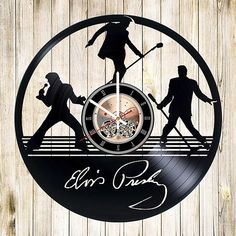 Elvis Presley Vinyl Record Wall Clock gift idea wall art decor