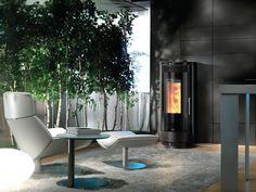 A nice modern Nordic Fire Aura pellet fireplace. Furniture, Outdoor Decor, Outdoor Tables, Modern, Table, Outdoor Furniture, Home Decor, Pellet Fireplace, Fireplace