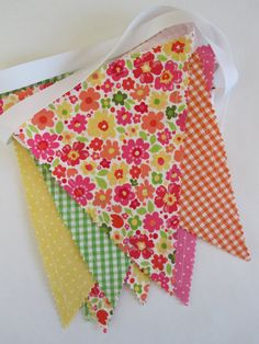 Bunting/Fabric Flag Banner, As Seen in PREGNANCY and NEWBORN MAGAZINE, Girl Bedroom/Nursery/ Playroom/Party/Baby Shower