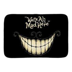 9.5$  Buy here - We're All Mad Here Funny Doormat Alice In Wonderland Entrance Door Mat Indoor Outdoor Bathroom Floor Mat Soft Short Plush Fabric   #magazineonline