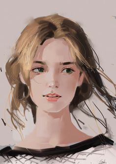 Digital Art Girl, Digital Portrait, Realistic Drawings, Art Drawings, Girl Face Drawing, Digital Art Tutorial, Portrait Illustration, Face Illustration, Art Station