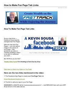 How to Make Fan Page Tab Links Document Sharing, Fan Page, Ads, How To Make