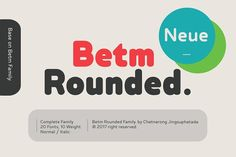 Betm Rounded font  @creativework247