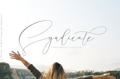 Syndicate - modern calligraphy font with contemporary, sophisticated accents. It is perfect for branding, wedding invites and cards, and maybe for red wine label. Syndicate come with 343 glyphs. $20 by Teweka #ad #creativemarket #calligraphy #vlog #blog