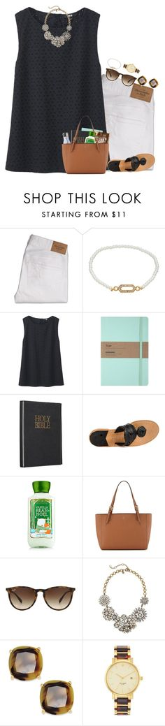 """""""Church today"""" by remiii13 ❤ liked on Polyvore featuring Abercrombie & Fitch, LC Lauren Conrad, Uniqlo, Jack Rogers, Tory Burch, Ray-Ban, J.Crew, Kate Spade, women's clothing and women"""