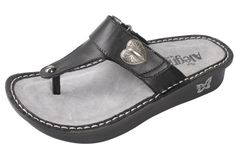 Alegria Shoes - Carina Black Nappa Leather Thong Sandal, $98.95 (http://www.alegriashoes.com/products/carina-black-nappa-leather-thong-sandal.html)
