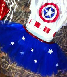 CAPTAIN AMERICA tutu costume newbornadult by OhSoSassyBoutique, $35.00