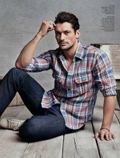 ♂ Masculine & elegant Man's fashion casual wear David Gandy