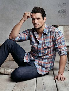 ♂ Masculine & elegant Man's fashion casual wear David Gandy