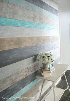 Ocean breeze feel planked wall