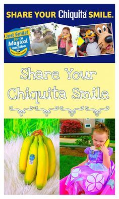 Share your Chiquita Smile & you could win a Walt Disney World® vacation #JustSmileContest #ad