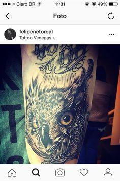 Tatuagem Felipe Neto coruja