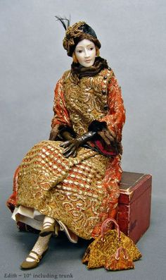 The fine art dolls of Stephanie Blythe featuring galleries of exquisite porcelain figures and miniature dolls. Clay Dolls, Doll Toys, Art Dolls, Dollhouse Dolls, Miniature Dolls, Antique Dolls, Vintage Dolls, Marionette, Fashion Mode