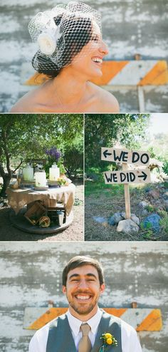 """Signage for the ceremony & reception - """"We do""""  """"We did""""   Trabuco, CA"""