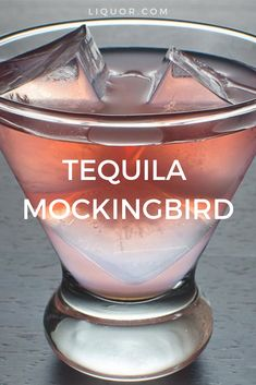 With the use of tequila and watermelon, the Tequila Mockingbird will make you feel like you're on vacation anytime of the year.