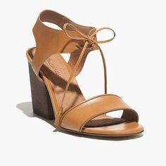 The Gabi Sandal in Brown Leather