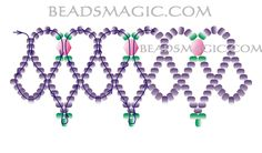 Free pattern for necklace Stefani. U need: seed beads 11/0 bicone beads 4-6 mm