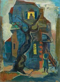 Jacob Eisenscher – Eisenscher was an Israeli painter. He was born in Bukovina and received his artistic education in Chernowitz and at the Academy for Arts in Vienna. In his youth he associated with a group of Jewish intellectuals,. Making Aliyah, Art Station, Tel Aviv, Exhibitions, Traditional Art, Vienna, Youth, Sketches, Display