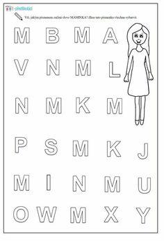 Alphabet, Kindergarten, Math Equations, Education, Words, Old Age, Alpha Bet, Kindergartens, Onderwijs