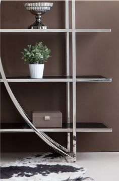 Diana bookcase. Modern Bookcase, Furniture Companies, Diana, Stainless Steel, Shelves, Home Decor, Shelving, Decoration Home, Modern Library