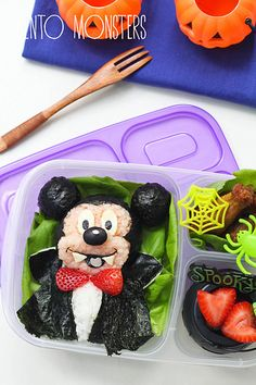 Vampire Mickey Bento school lunch - packed in an #EasyLunchboxes container
